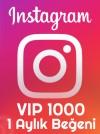 1 Aylık VIP 1000 Beğeni Paketi