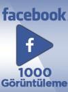 1000 Adet Facebook Video Görüntüleme