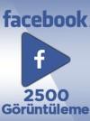 2500 Adet Facebook Video Görüntüleme