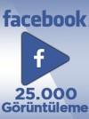 25000 Adet Facebook Video Görüntüleme