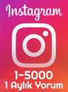 instagram 1 Aylık Yorum Paketi