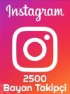 Instagram Bayan Takipçi 2500 Adet