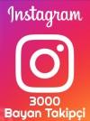 Instagram Bayan Takipçi 3000 Adet