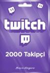Twitch 2000 Takipçi
