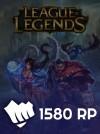 League Of Legends Eu West  1400 RP (180 Bonus)