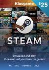 Steam 25 USD Wallet Code