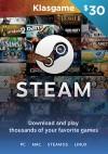 Steam 30 USD Wallet Code