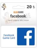20 TL'lik Facebook Oyun Kartı