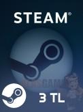 3 TL Steam Cüzdan