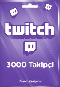 Twitch 3000 Takipçi