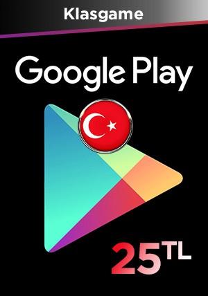 Google Play 25 TL