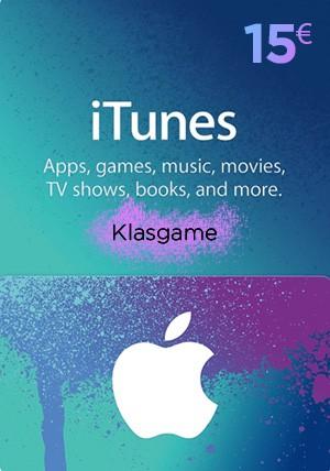 iTunes 15 Euro Gift Card