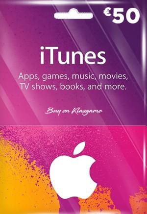 iTunes 50 Euro Gift Card