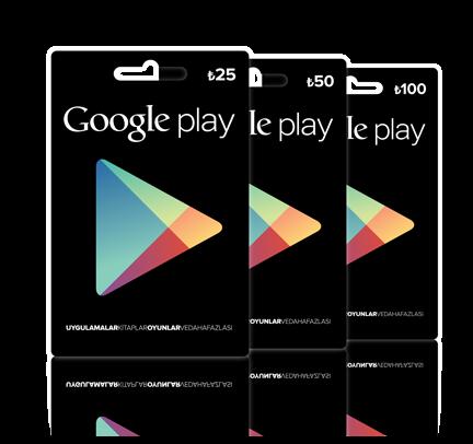 Google Play Hediye Kartı Satın Al