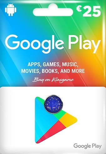 Google Play 25 Euro