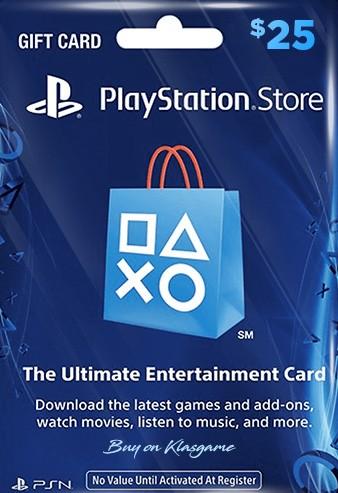 PlayStation PSN Card 25 USD