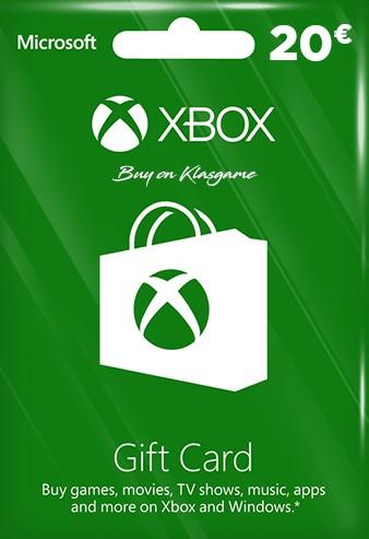 Xbox Live Gift Card 20 Euro