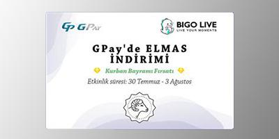 Gpay'de Bigo Live Elmas İndirimi