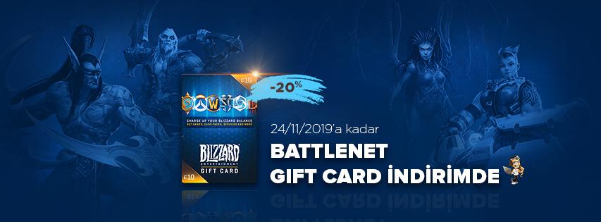 Battlenet Gift Card İndirimde