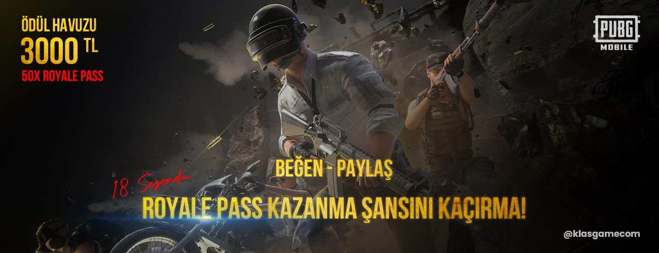 KLASGAME'DEN PUBG MOBILE 18. SEZON ÇEKİLİŞİ!!